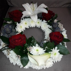 Fresh Flower Wreath-WILHELMINA