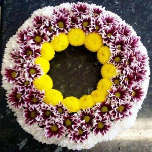 Fresh Flower Wreath-WENDY